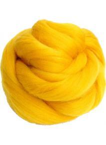 Lana cardada en cinta - amarillo sol
