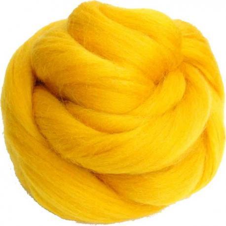Lana cardada en cinta - amarillo dorado.