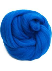 Lana cardada en cinta azul medio