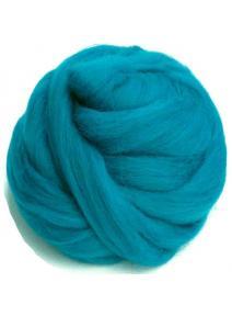 Lana cardada en cinta - azul turquesa