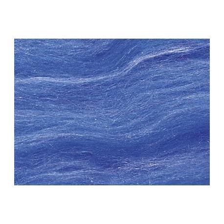 Lana cardada con seda - azul.