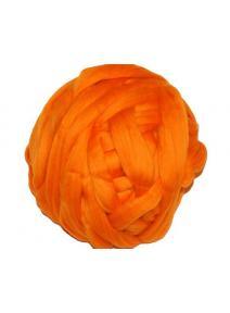 Lana cardada en cinta - naranja brillante