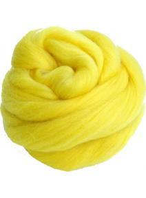 Lana cardada en cinta - amarillo limón