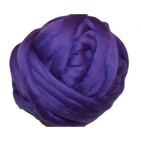 Lana cardada en cinta - violeta.