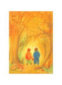 Postal - El bosque en otoño.