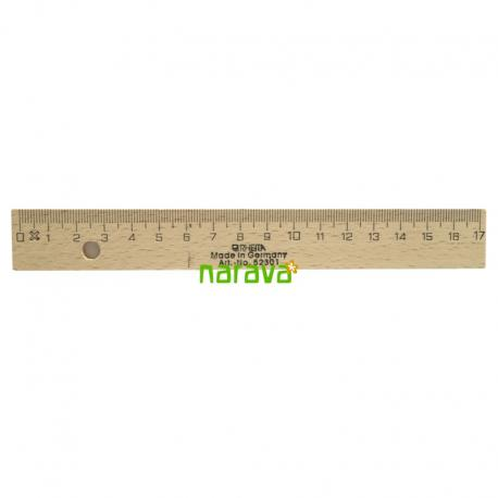 Regla de madera 17 cm
