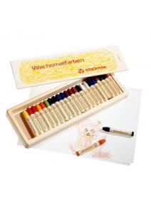 Stockmar - Lápices de cera caja madera 24 uds.