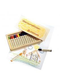 Stockmar - Lápices de cera caja madera 16 uds