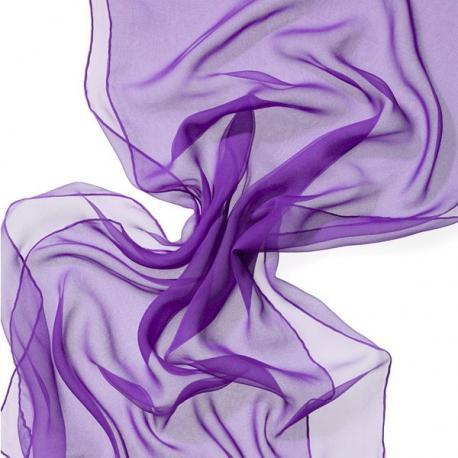 Chal en seda chiffon - lavanda.