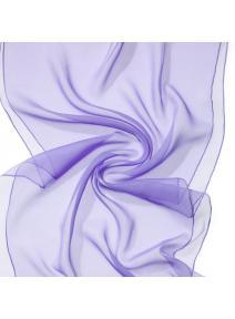 Chal en seda chiffon - lila