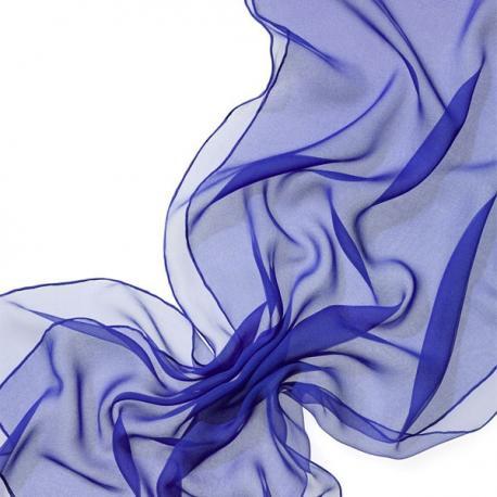 Chal en seda chiffon - azul royal
