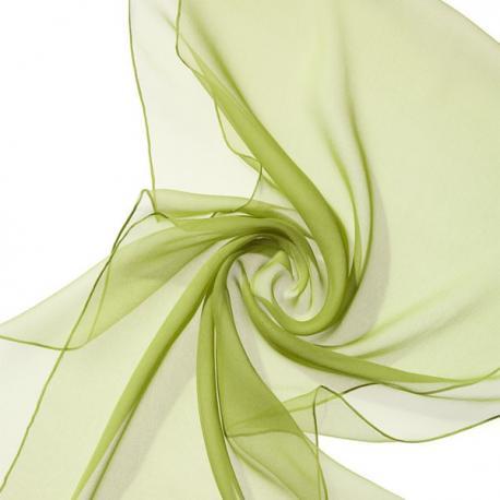 Chal de seda chiffon verde limon