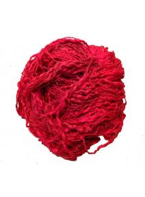 Algodón y lino boucle rojo