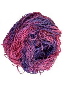 Algodón y lino boucle fuchsia violeta