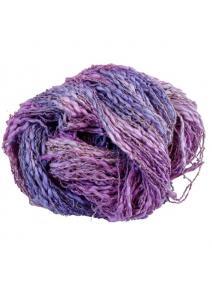 Algodón y lino boucle lila morado