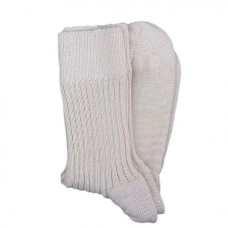 Calcetines de lana gruesa - color crudo.