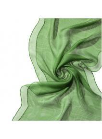 Chal de seda Tissu de gasa  verde menta
