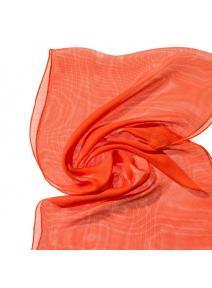 Chal de seda Tissu de gasa - zanahoria.
