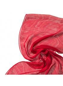 Chal de seda Tissu de gasa rojo