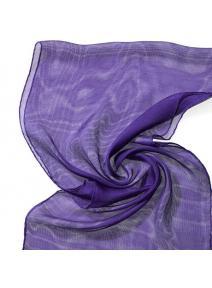 Chal de seda Tissu de gasa violeta