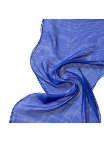 Chal de seda Tissu de gasa azul