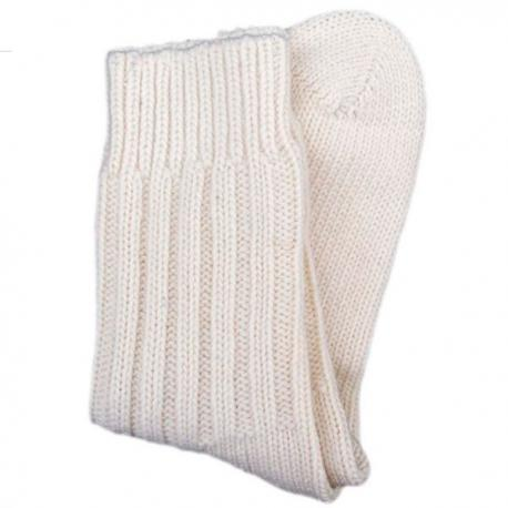 Calcetines de algodón orgánico grueso  natural