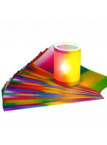 Papel Transparente en tonos arcoiris