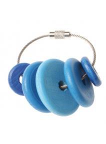 Llavero de madera - azul