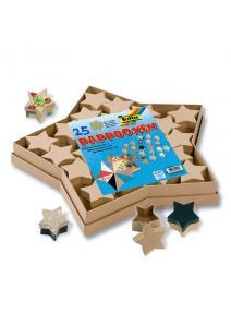 Estrella de cartón con cajitas interiores