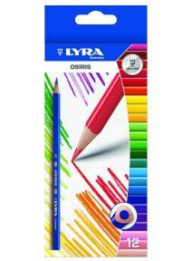 Lyra - lápices de madera Osiris de 12 colores en caja de cartón.