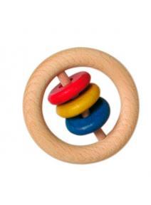 Anilla de madera con discos pequeña