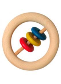 Anilla de madera con discos grande