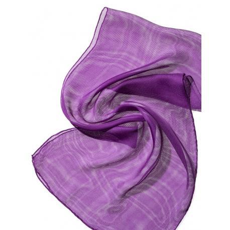 Chal de seda Tissu de gasa - purpura.
