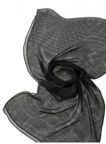 Chal de seda Tissu de gasa - negro.