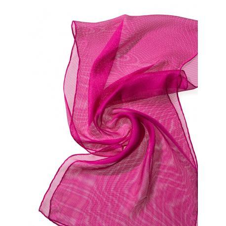 Chal de seda Tissu de gasa - pink.