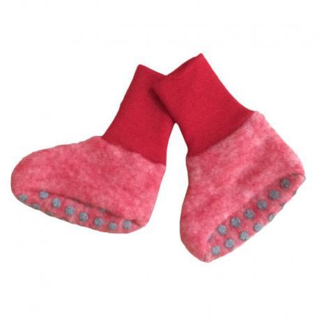 Patucos de lana merino - rojo