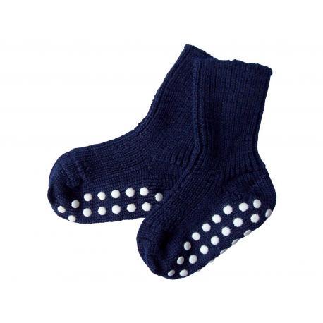 80388a935a5 Calcetines antideslizantes de lana - azul