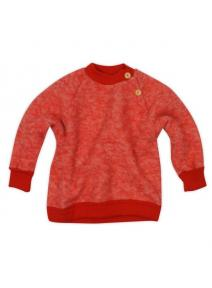 Jersey de lana orgánica merino - rojo