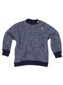 Jersey de lana orgánica merino - azul