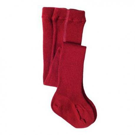 Leotardo de lana orgánica y algodón orgánico- rojo