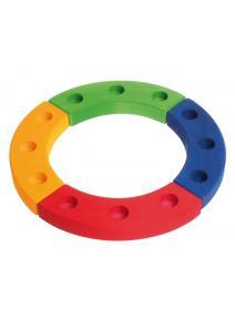 Círculo de cumpleaños arcoiris