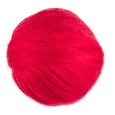 Lana cardada en cinta -rojo rosaceo