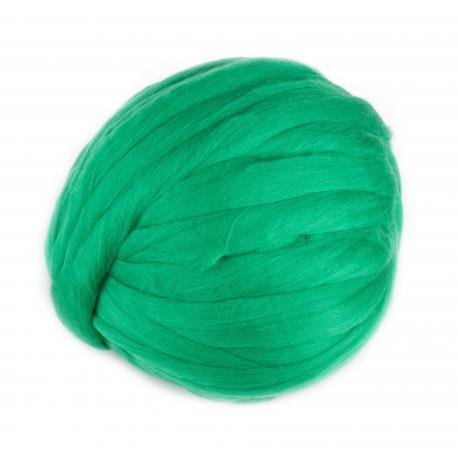 Lana cardada en cinta - verde pradera