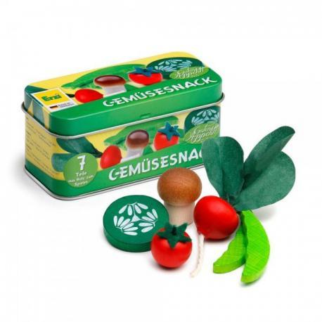 Caja de verduras de madera