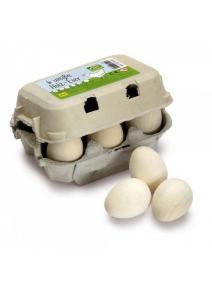 Huevos blancos de madera