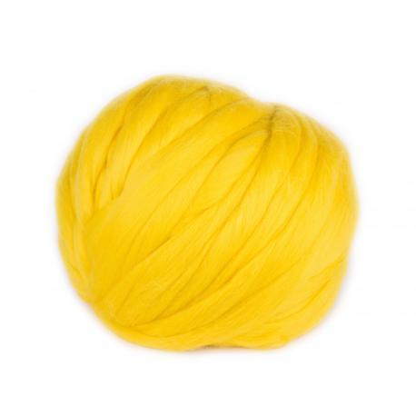 Lana cardada en cinta - amarillo brillante
