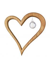 Móvil de madera Corazón