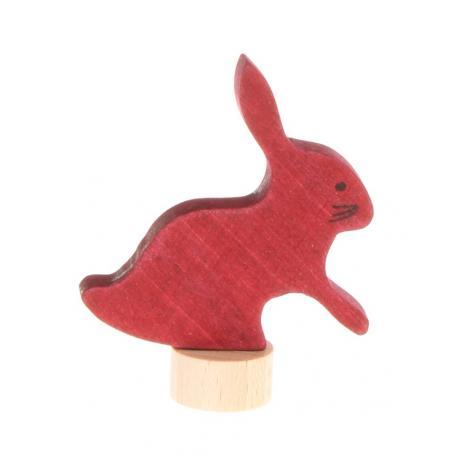 Figura de madera liebre
