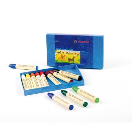 Stockmar - Lápices de cera caja cartón 12 uds.