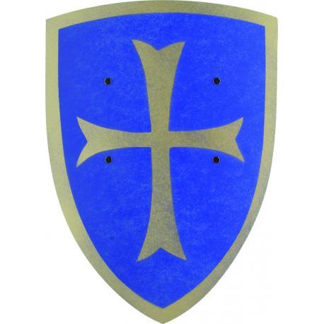Escudo de cruzado rojo